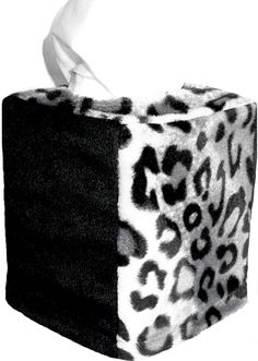 Snow Leopard and Ebony Vertical Tissue Cover. $18.00  SALE $12.00