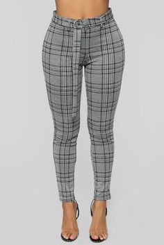 Shop pants for women for everyday styles and the latest trends. We have wide leg pants, skin-tight leather pants, cozy jogger pants, dressy pants, work-approved trousers and more at Fashion Nova. Plaid Pants, Plaid Skirts, Grey Pants, Dope Fashion, Office Fashion, Fashion Outfits, Womens Fashion, Classy Outfits For Women, Cute Outfits
