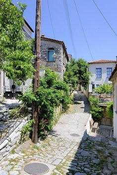 Agiassos, Lesbos, Griekenland
