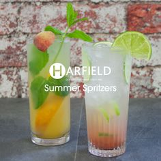 Summer #Spritzers - enjoy a refreshing drink this weekend with our Harfield Tableware's #stylish barware range. 100% #Recyclable, #Stock immediately available. Perfect to enjoy in the #garden or down your local.  Visit www.harfieldtableware.co.uk
