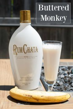 Buttered Monkey is an amazing cocktail that has vanilla vodka, banana liqueur and butterscotch schnapps.
