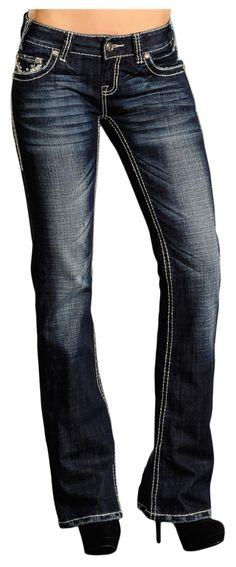 Rock & Roll Cowgirl by Panhandle Slim Heavy Stitch Jean W0-5524, Lammle's Western Wear & Tack