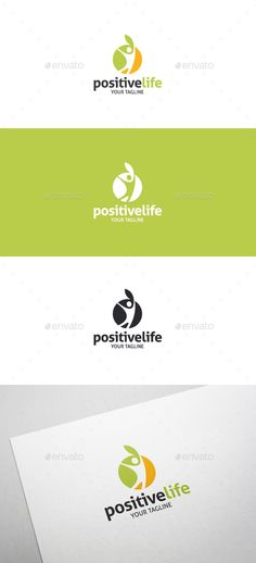 Positive Life - Healthy Life Style Logo Template Vector EPS, AI. Download here: http://graphicriver.net/item/positive-life-healthy-life-style-logo/13504909?ref=ksioks
