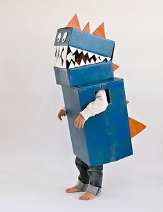 DIY Cardboard Dinosaur Costume