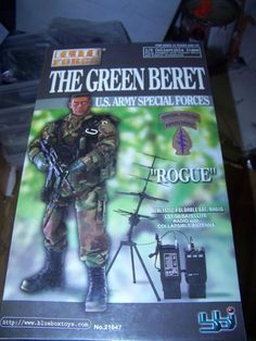 "1:6 scale Green Beret US Army Special Forces 12"""" action figure ROGUE bbi elite MIB"