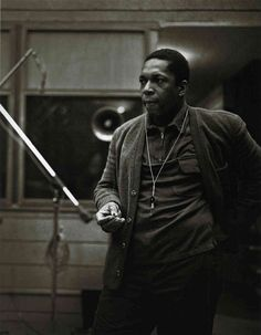 """musician-photos: """"John Coltrane at the recording sessions for A Love Supreme """""""