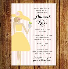 Kentucky Derby Themed Bridal Shower Invitation From Crosstown