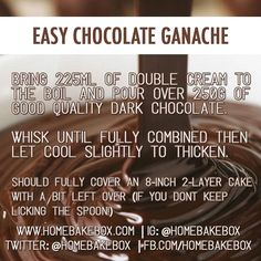 Quick and easy (and foolproof) chocolate ganache.
