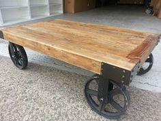 NEW FRENCH PROVINCIAL INDUSTRIAL RECYCLED VINTAGE RUSTIC TIMBER COFFEE TABLE