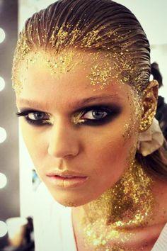 Billedresultat for guld glimmer make-up karneval