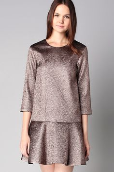 Robe volant bronze Topaze - Dress Gallery