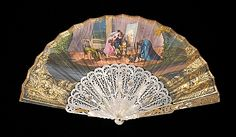 Fan 1860, European, Made of mother-of-pearl and paper