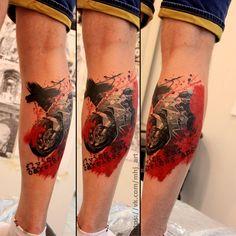 #tattoo #realism #realistic #art #moto #motocycle #speed #trashpolka