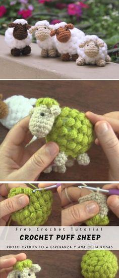 Sheep Puff Amigurumi #crochetpattern #free #amigurumi