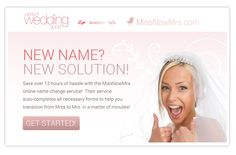 A site that helps you change your last name after you're married. Handy!
