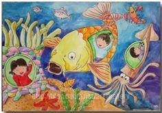 상상력 풍부한 아이들의 유토피아: <과학상상화> 상상화 중 가장 돋보이는 것은 아이들의 상상화다. 어릴 때의 상상은 순수하고 아름답다. 디스토피아는 보이지 않고, 바다 속에 사는 과학 공상은 물론 물고기, 말미잘과 웃으며 공존하는 가히 혁명적(?)인 모습을 보인다. 어른의 시각으로 우습기도 하겠지만, 이런 순수하고 풍부한 상상이 많은 과학자, 발명가들의 혁명의 재료가 되어온 것도 사실이다.