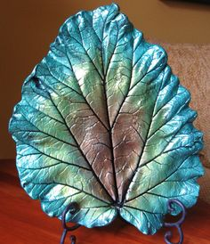 Concrete Leaf Casting by ConcreteImpressions on Etsy, $41.00