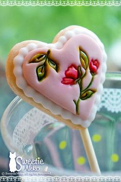 lollipop cookie in heart shape