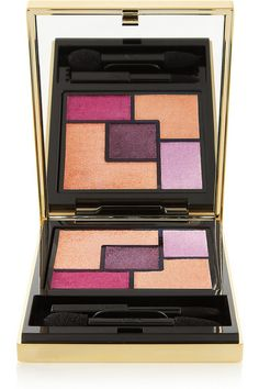 Yves Saint Laurent Beauty's stunning Couture Palette. Equipped with five highly pigmented eyeshadows ranging from peachy beige to deep fuchsia and rich grape, the 'Baby Doll Nude' set offers the perfect combination of matte and satin shades to amplify your eyes