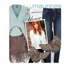 """The Perfect Blouse with maurices: Contest Entry"" by honii ❤ liked on Polyvore featuring maurices, women's clothing, women, female, woman, misses, juniors, Maurices and theperfectblouse"