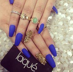 Royal blue matte/ gold