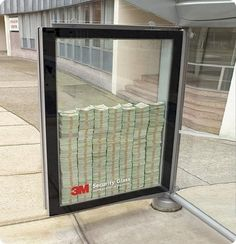 bus stop ad.