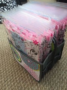 Cute idea for your hostess packets / catalogs / first day of school packets or take to a vendor show.