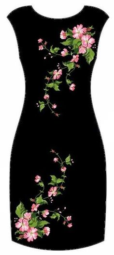 New embroidery patterns dress robes Ideas Embroidery Suits, Embroidery Fashion, Embroidery Designs, Kurti Embroidery, Machine Embroidery, Pretty Dresses, Beautiful Dresses, Outfit Trends, Mode Outfits