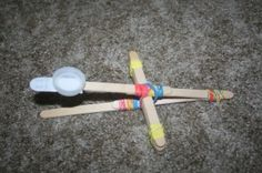 How to Build a Catapult Out of Popsicle Sticks and Rubber Bands.