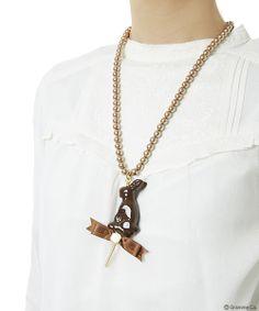 Q-Pot Lollipop Chocolate Rabbit Necklace