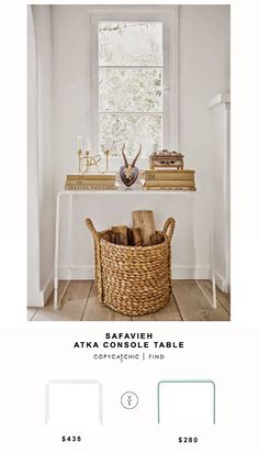 Domino Magazine Safavieh Atka Console Table for $435 vs @highfashionhome Mecca Console Table for $280 | Copy Cat Chic Look for Less Budget Home Decor