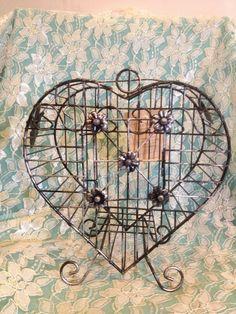VIntage Heart Bird Cage. $10.00, via Etsy.