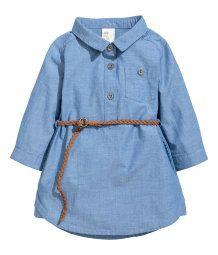 Klänning med skärp   Blå   Barn   H&M SE