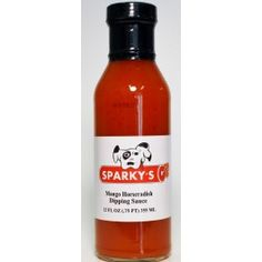 Mango Horseradish Dipping Sauce - 12 oz. - Sauces & Rubs Sparky's Online - A great sauce with a spicy, fruity flavor.