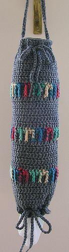crochet plastic bag dipenser