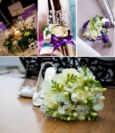 Cadbury Purple Flower Ideas from www.thebrideacademy.co.uk