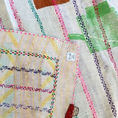 Our Indian TREASURED Kantha Quilts are unique, hand-made boheme style perfect for your bedroom, beach blanket or picnics + for your bohemian luxe lifestyle
