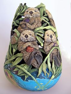 gourd art | Gourd Art by Featured Artist Phyllis Sickles