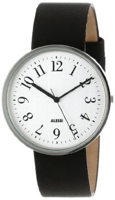 Alessi Mens AL6003 Record Stainless Steel Case Silver Tone Dial Designed by Achille Castiglioni Watch * Check this awesome product by going to the link at the image.Note:It is affiliate link to Amazon.