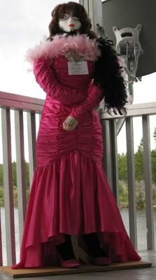 Red Lady Scarecrow - she's haughty and aloof