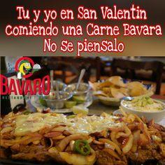 Tu y yo comiendo una Carne Bavara en San Valentin no se piensalo #SanValentinEsPara ir al #BAVARO #love #14deFebrero #SanValentin