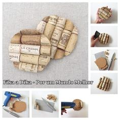 30 Insanely Creative DIY Cork Recycling Projects That Will Help You homesthetics decor Wine Craft, Wine Cork Crafts, Wine Bottle Crafts, Wine Cork Projects, Craft Projects, Recycling Projects, Easy Projects, Wine Cork Coasters, Diy Coasters