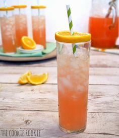 FAVORITE SUMMER DRINK! Beer, Vodka, and Pink Lemonade. Pink Summer Shandy. So refreshing!! - The Cookie Rookie