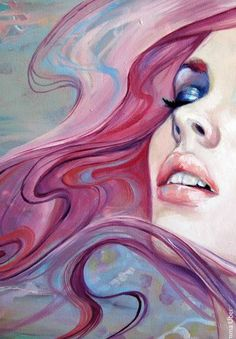 Emma Uber watercolor funky pop art with purple pink orange yellow blue color scheme palate Art Pop, Art And Illustration, Face Art, Painting & Drawing, Watercolor Painting, Drawing Eyes, Amazing Art, Awesome, Art Drawings