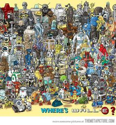 Searching for WALL-E is like searching for Waldo in a room full of Waldos....