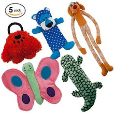 Dog Toys Value 5 Pack for Puppy, Small Dogs and Medium Dogs from Dawgeee, Squeaky Toy, Plush Toys, Rope Pet Toys, Dog Chew Toys | #DogToys #external