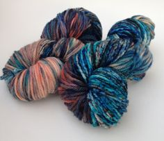 I sprayed this yarn with water after applying dye,