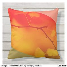 Tranquil Floral with Color Blocking Outdoor Pillow Patio Pillows, Outdoor Throw Pillows, Natural Pillows, Home Reno, Nursery Room, Color Trends, Cobalt, Color Blocking, Meditation