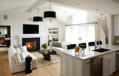 « Design Shuffle Blog - A widespread view of the living room shows how the space was used to its full potential.