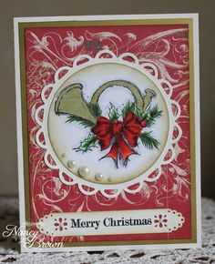 Creatively Artsy Card Gallery: Yuletide Greetings - French Horn